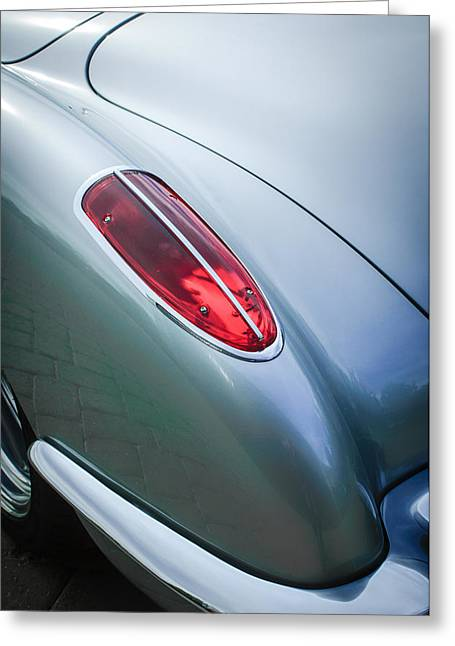 1960 Greeting Cards - 1960 Chevrolet Corvette Taillight Greeting Card by Jill Reger