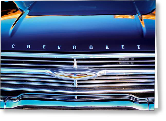 1960 Greeting Cards - 1960 Chevrolet El Camino Grille Emblem Greeting Card by Jill Reger