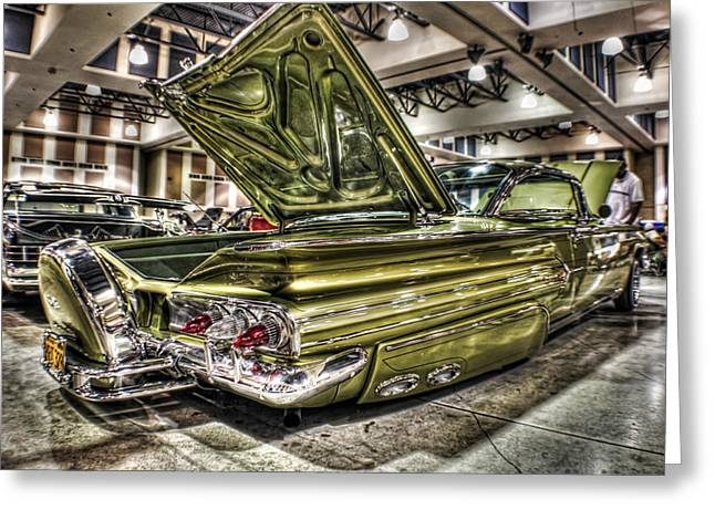 Palm Springs Car Show Greeting Cards - 1960 Chevy Greeting Card by MadMethod Designs