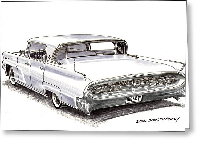 80s Greeting Cards - 1960 Continental Greeting Card by Jack Pumphrey