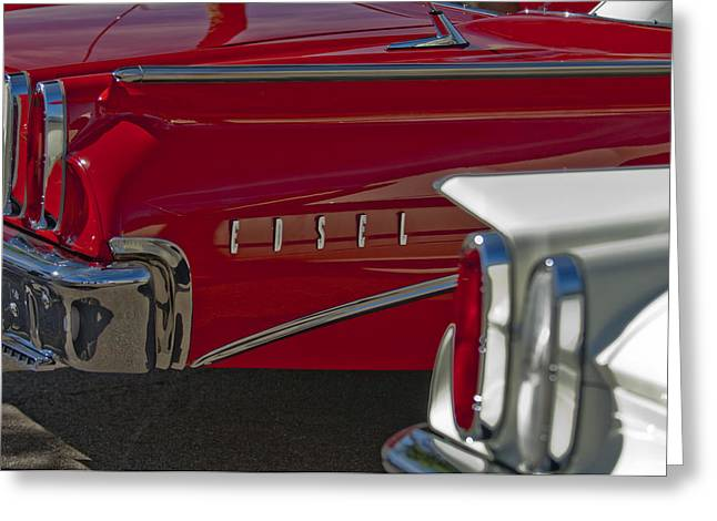 1960 Edsel Taillight Greeting Card by Jill Reger