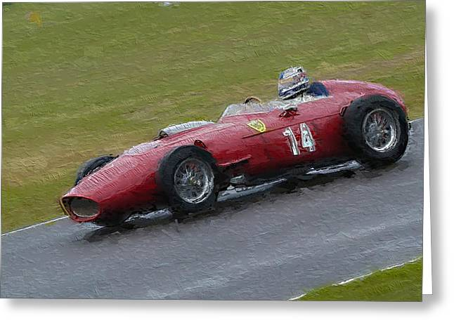 Single Seater Greeting Cards - 1960 Ferrari Dino Racing Car Greeting Card by John Colley
