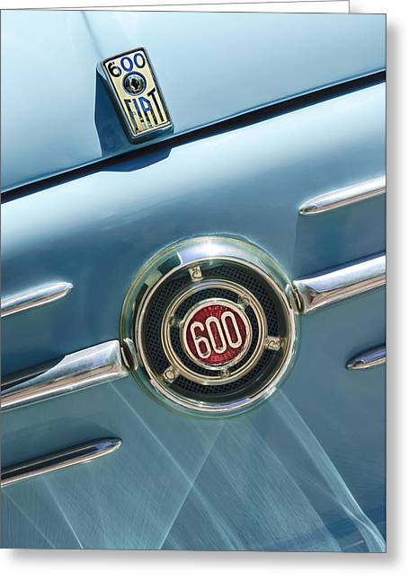 1960 Greeting Cards - 1960 Fiat 600 Jolly Emblem Greeting Card by Jill Reger