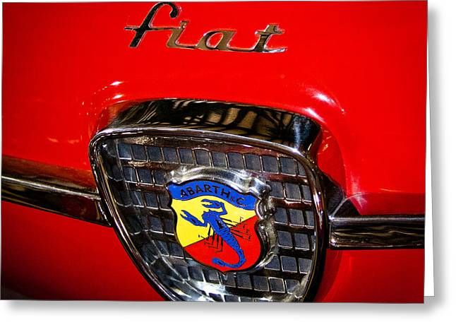 Collector Hood Ornament Greeting Cards - 1960 Fiat Abarth Zagato Greeting Card by David Patterson