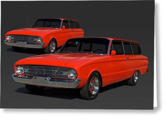 Station Wagon Greeting Cards - 1960 Ford Falcon Station Wagon Greeting Card by Tim McCullough