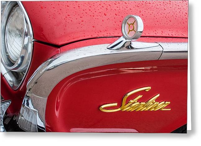 1960 Ford Galaxie Starliner Hood Ornament - Emblem Greeting Card by Jill Reger