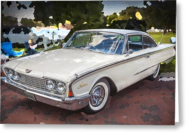 1960 Ford Starliner Greeting Card by Rich Franco