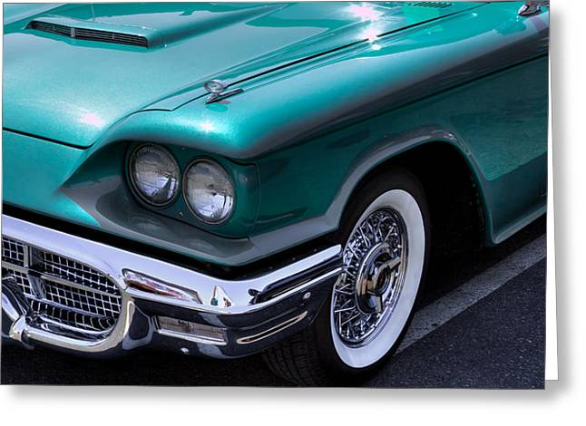 Collector Hood Ornament Greeting Cards - 1960 Ford Thunderbird Greeting Card by David Patterson