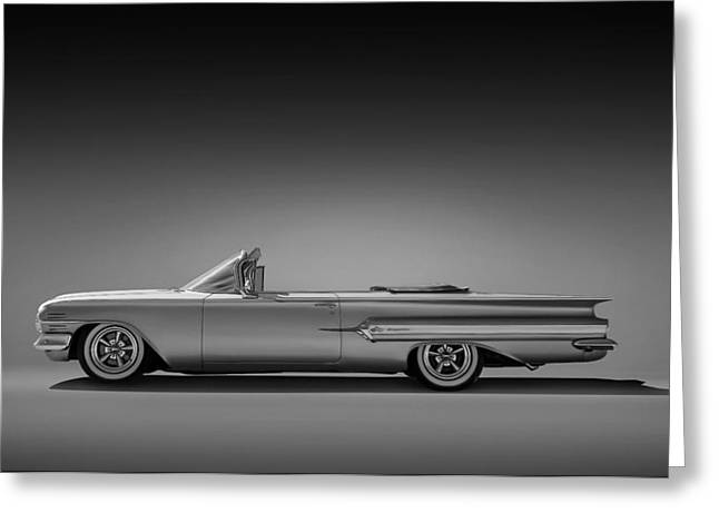 Car Shows Greeting Cards - 1960 Impala Convertible Coupe Greeting Card by Douglas Pittman