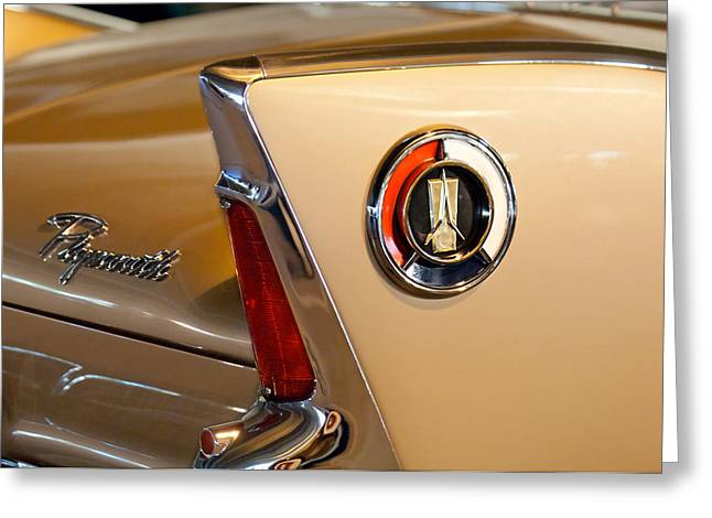 1960 Plymouth Fury Convertible Taillight And Emblem Greeting Card by Jill Reger