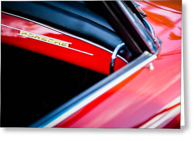 Dash Greeting Cards - 1960 Porsche 356 B Dash Emblem -1127c Greeting Card by Jill Reger