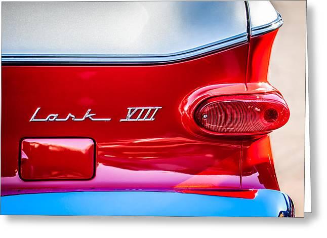 Viii Greeting Cards - 1960 Studebaker Lark VIII Taillight Emblem -154c Greeting Card by Jill Reger