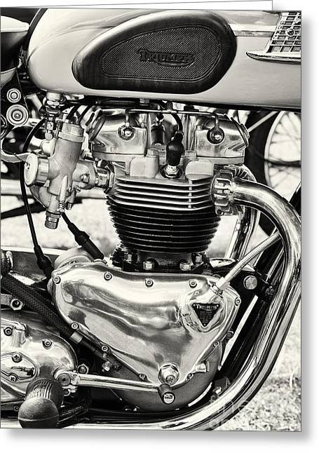 British Culture Greeting Cards - 1960 Truimph T120 Bonnerville 650cc Greeting Card by Tim Gainey