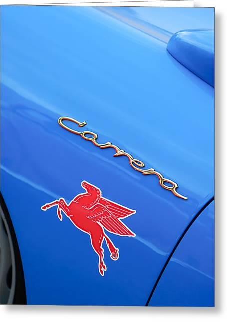 Horse Images Greeting Cards - 1960 Volkswagen VW Porsche 356 Carrera GS GT Replica Emblem Greeting Card by Jill Reger