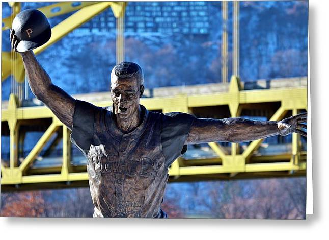 Bill Mazeroski Greeting Cards - Maz Greeting Card by Christopher Miles Carter
