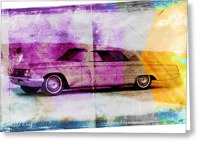 1960s Greeting Cards - 1960s Buick Greeting Card by David Ridley
