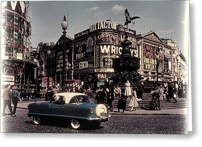 1960s Piccadilly Circus Greeting Card by Eric  Bjerke Sr