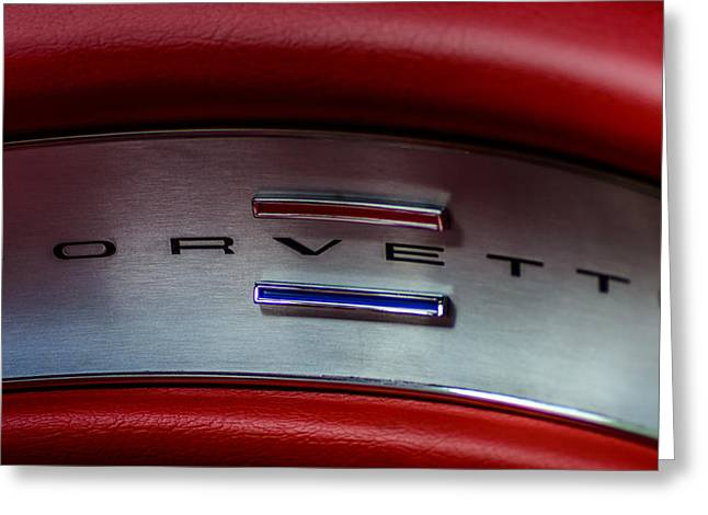 1961 Chevrolet Corvette Greeting Card by Randy Scherkenbach