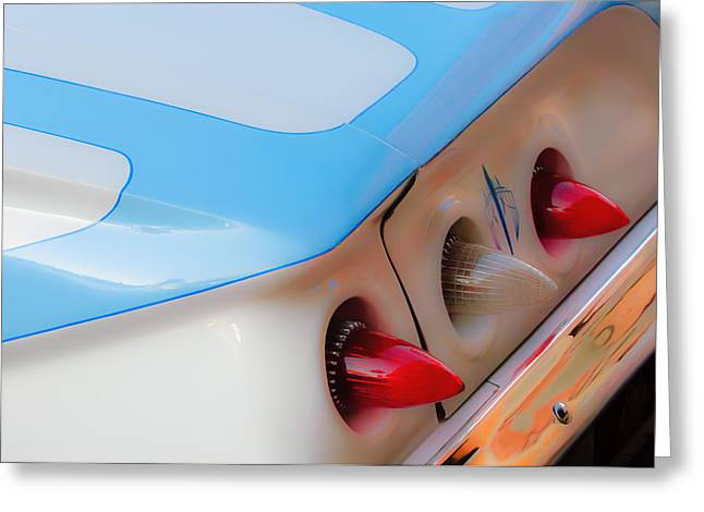 1961 Greeting Cards - 1961 Chevrolet Impala Taillights Greeting Card by Jill Reger