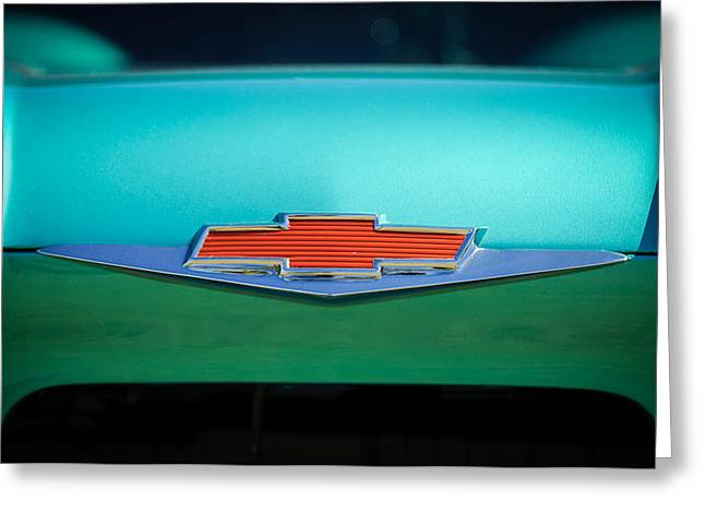Chevrolet Pickup Greeting Cards - 1961 Chevrolet Pickup Emblem Greeting Card by Jill Reger