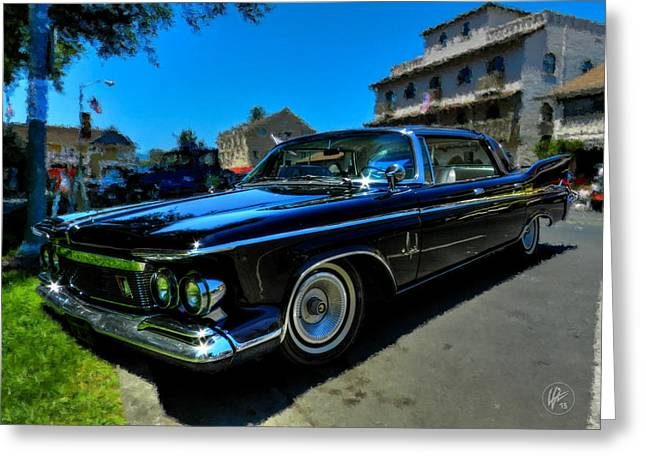 Auto Greeting Cards - 1961 Chrysler Imperial 001 Greeting Card by Lance Vaughn