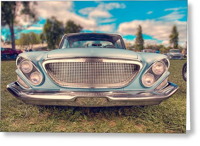 Chopped Greeting Cards - 1961 Chrysler Newport Greeting Card by Yo Pedro