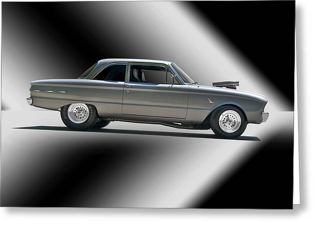 Ford Falcon Coupe Greeting Cards - 1961 Ford Normally Aspirated Falcon Greeting Card by Dave Koontz