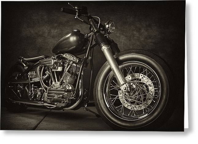 Pinhead Greeting Cards - 1961 Harley PanShovel Greeting Card by Miguel Arroyo