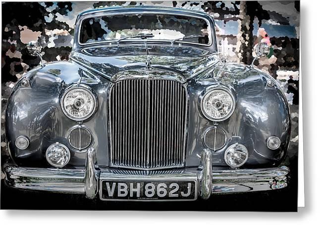Gran Jaguar Greeting Cards - 1961 Jaguar Mark IX Saloon  Greeting Card by Rich Franco