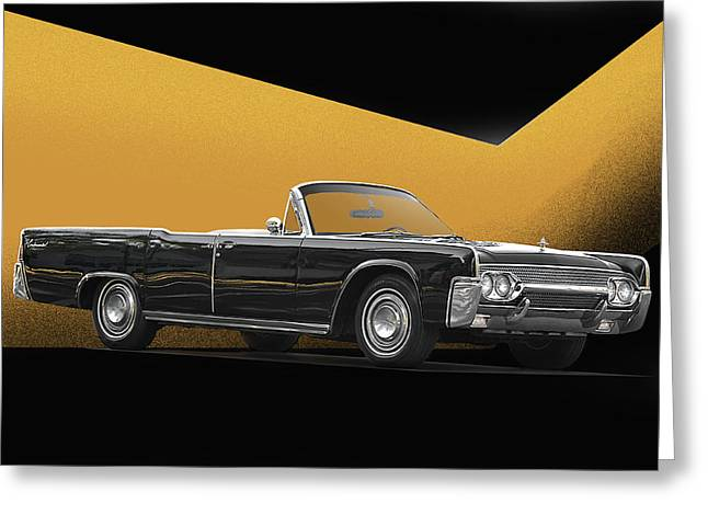 Family Car Greeting Cards - 1961 Lincoln Continental Convertible Greeting Card by Dave Koontz