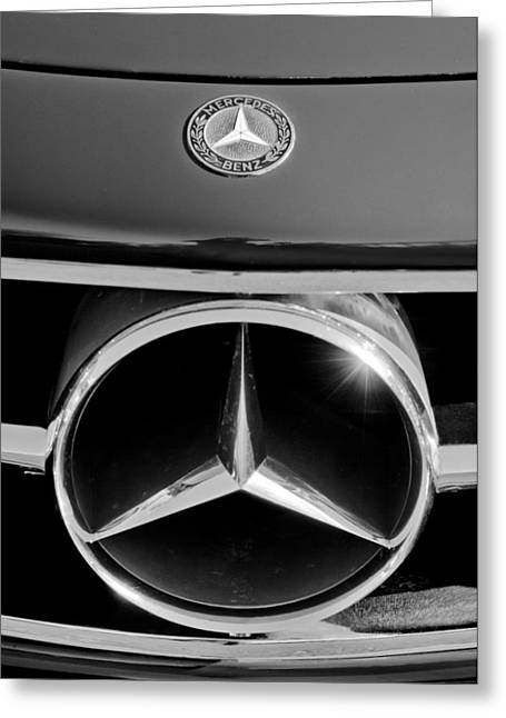 1961 Mercedes-benz 300 Sl Grille Emblem Greeting Card by Jill Reger