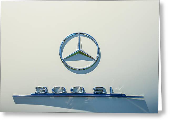 1961 Mercedes Benz 300sl Roadster Emblem Greeting Card by Jill Reger