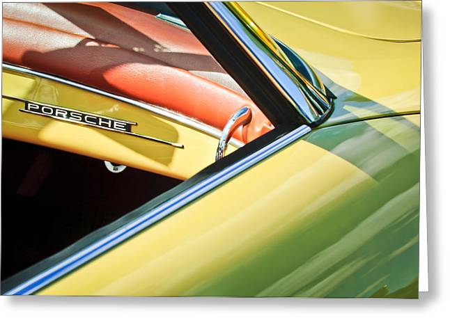 1961 Greeting Cards - 1961 Porsche 356B 1600 Super Dashboard Emblem -1712c Greeting Card by Jill Reger