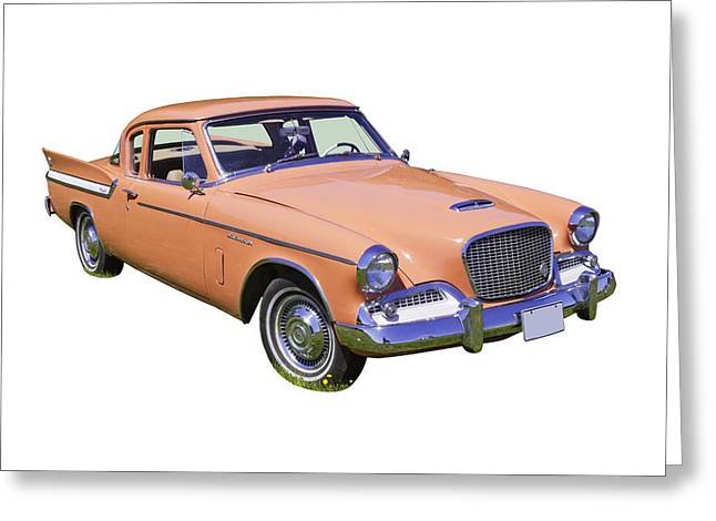 Vintage Auto Greeting Cards - 1961 Studebaker Hawk Coupe Greeting Card by Keith Webber Jr
