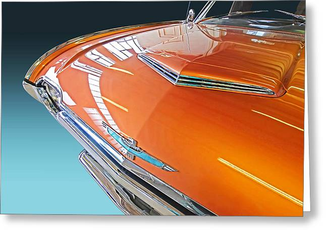 Indy Car Greeting Cards - 1961 Thunderbird Reflections Greeting Card by Gill Billington