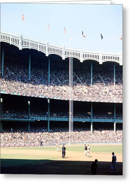 Marvin Newman Greeting Cards - 1961 World Series Greeting Card by Retro Images Archive