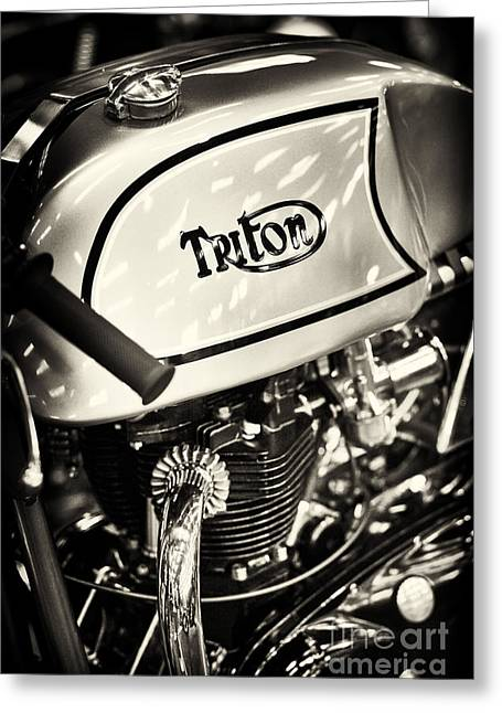 1962 650cc Triton Cafe Racer Greeting Card by Tim Gainey