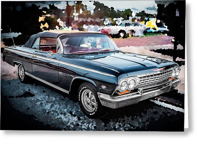 Detroit Legends Greeting Cards - 1962 Chevrolet Impala SS Greeting Card by Rich Franco