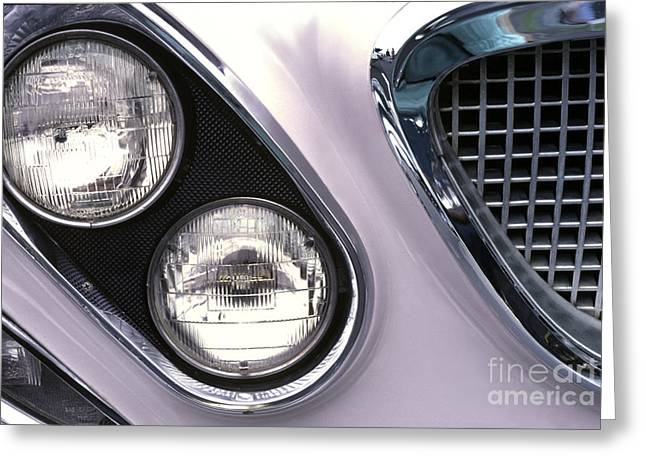 Reminiscing Greeting Cards - 1962 Chrysler Newport Front End Greeting Card by Anna Lisa Yoder
