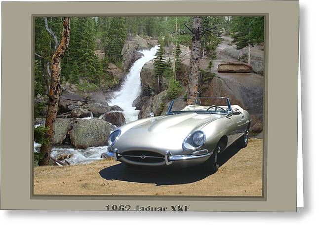 Saw Greeting Cards - 1962 Jaguar XKE Greeting Card by Jack Pumphrey