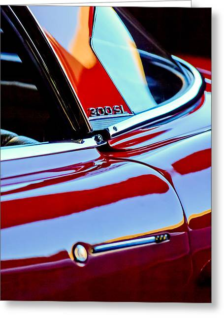 1962 Mercedes-benz 300sl Roadster Emblem -0663c Greeting Card by Jill Reger
