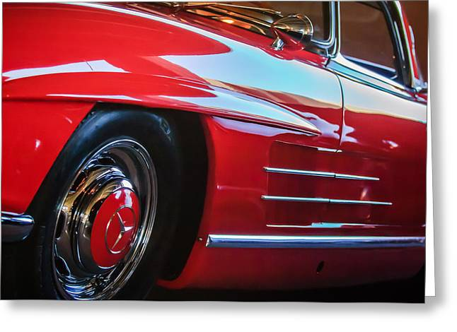 1962 Mercedes-benz 300sl Roadster Wheel -0669c Greeting Card by Jill Reger
