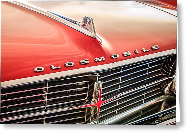 Starfire Photographs Greeting Cards - 1962 Oldsmobile Starfire Hardtop Hood Ornament - Emblem Greeting Card by Jill Reger