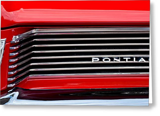 Sd Greeting Cards - 1962 Pontiac Catalina SD Grille Greeting Card by Jill Reger