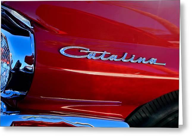 Sd Greeting Cards - 1962 Pontiac Catalina SD Side Emblem Greeting Card by Jill Reger