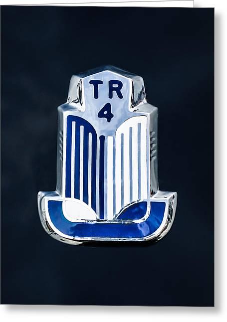 1962 Triumph Tr-4 Taillight Emblem Greeting Card by Jill Reger