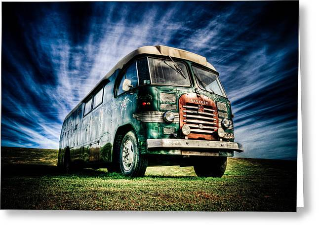 Phil Motography Clark Greeting Cards - 1963 Bedford Motorhome Greeting Card by Phil