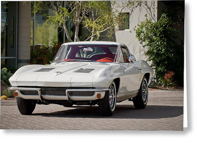 1963 Greeting Cards - 1963 Chevrolet Corvette Split Window -015c Greeting Card by Jill Reger