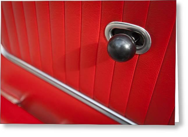 Latch Greeting Cards - 1963 Chevrolet Corvette Split Window Door Latch -185c Greeting Card by Jill Reger