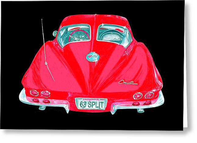 Replace Greeting Cards - 1963 Corvette Split Window Coupe Greeting Card by Jack Pumphrey